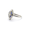 Art Deco, Diamond and Sapphire ring