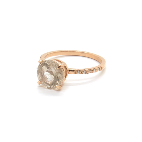 Diamond Rutilated Quartz Ring