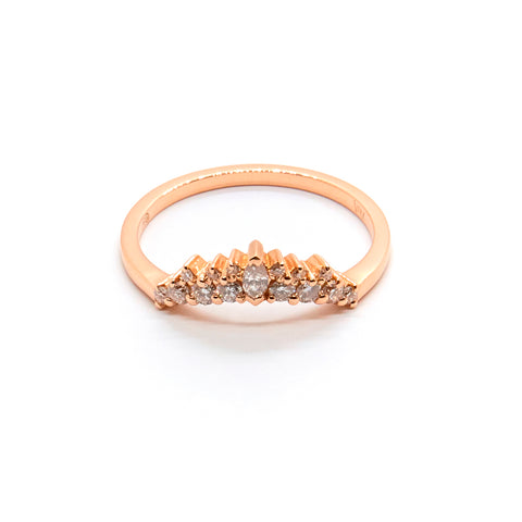 Arabella | Diamond Marquise Crown Ring