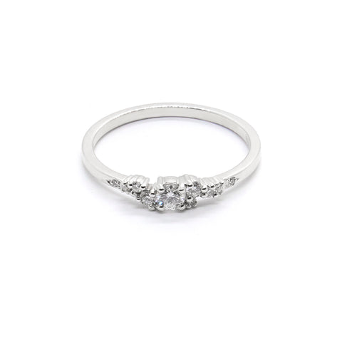 Petite Diamond Cluster Ring