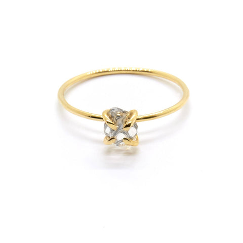 Herkimer Solitaire Ring