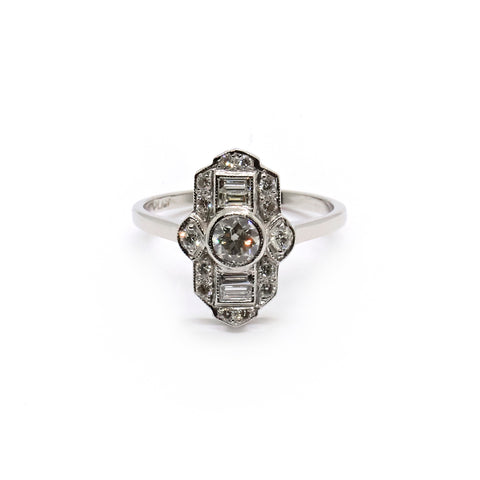 Aveline | Vintage Art Deco Style Diamond Cluster Ring