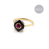 Estelle | Vintage Victorian Onyx, Ruby and Diamond Ring