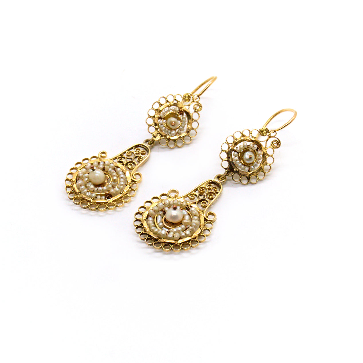 Ottilie | Vintage Victorian Pearl Earrings