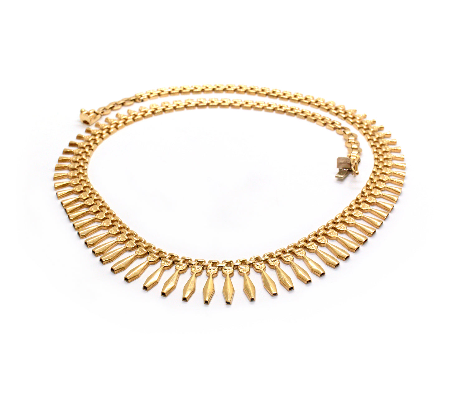 Audrey | Vintage Graduated Gate Design Necklace