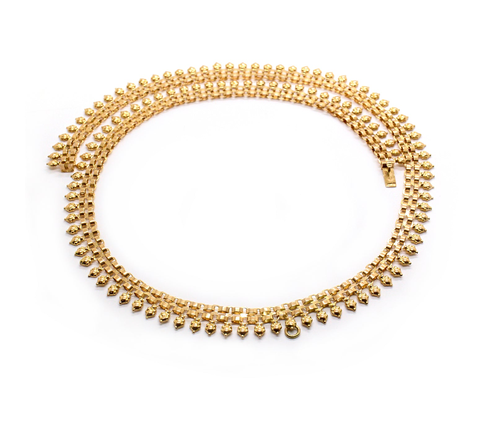 Odetta | Vintage Three Bar Gate Design Necklace
