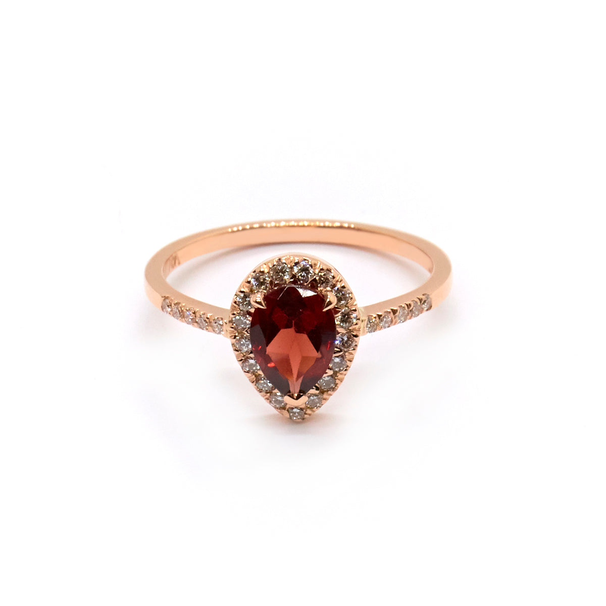 Garnet Pear Halo | Diamonds