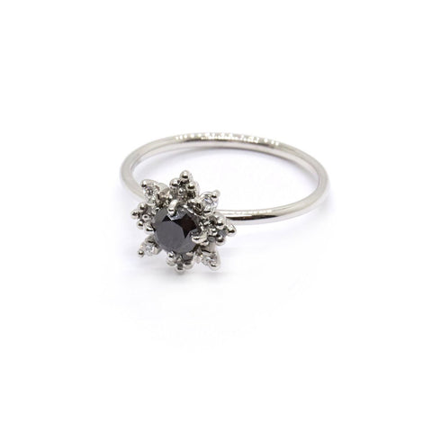 Round Daisy Halo | Black Diamond