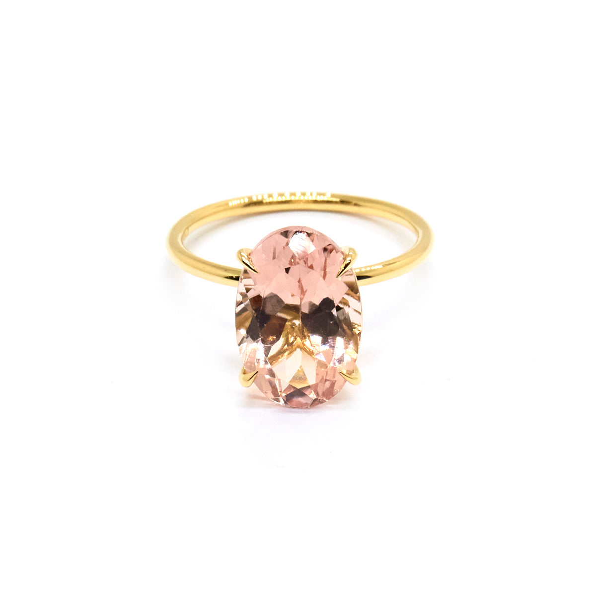 Tulip Solitaire | 3.62ct Morganite