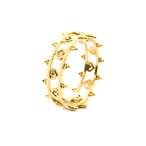Dotted Amora Cuff Ring