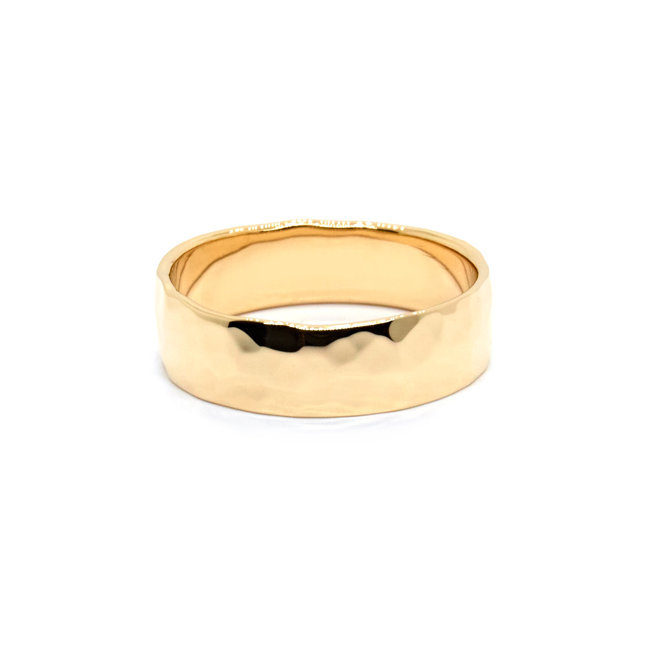 Hammered Cuff Ring | Yellow Gold