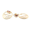 Mica Ear Jackets | Peach Zircon