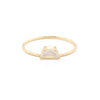 Tiny Half Moon Ring | Moonstone
