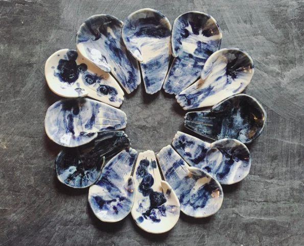 Open Palm Shibori Jewellery Dish