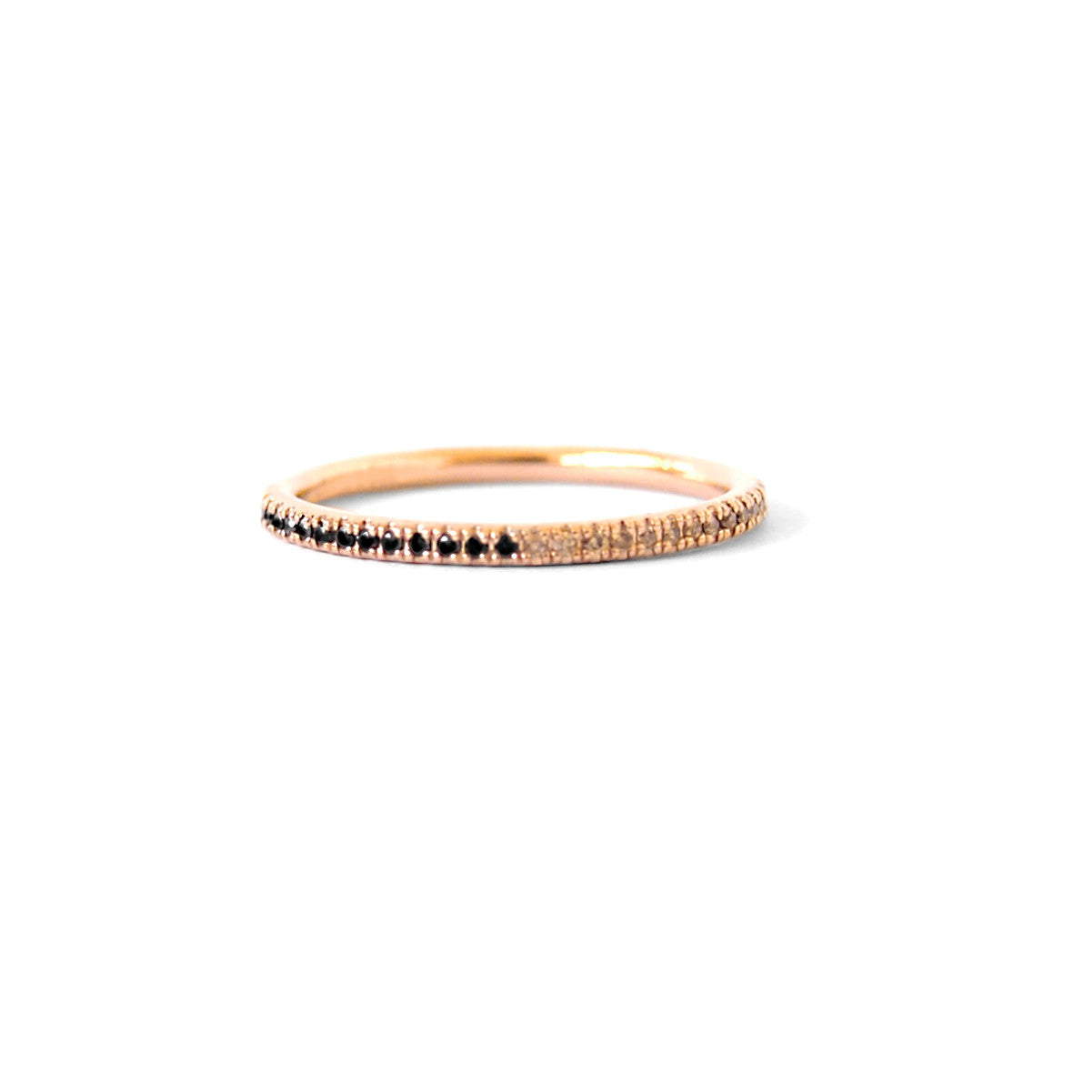 Queenie | Two Tone | Black & Champagne Diamonds