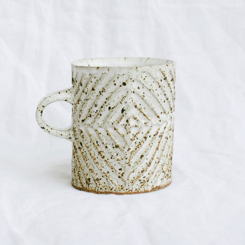 Diamond Mug | Off White Speckled