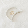 Crescent Moon Dish | White Speckled