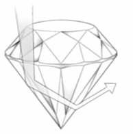 diamond deep cut