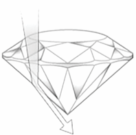diamond shallow cut