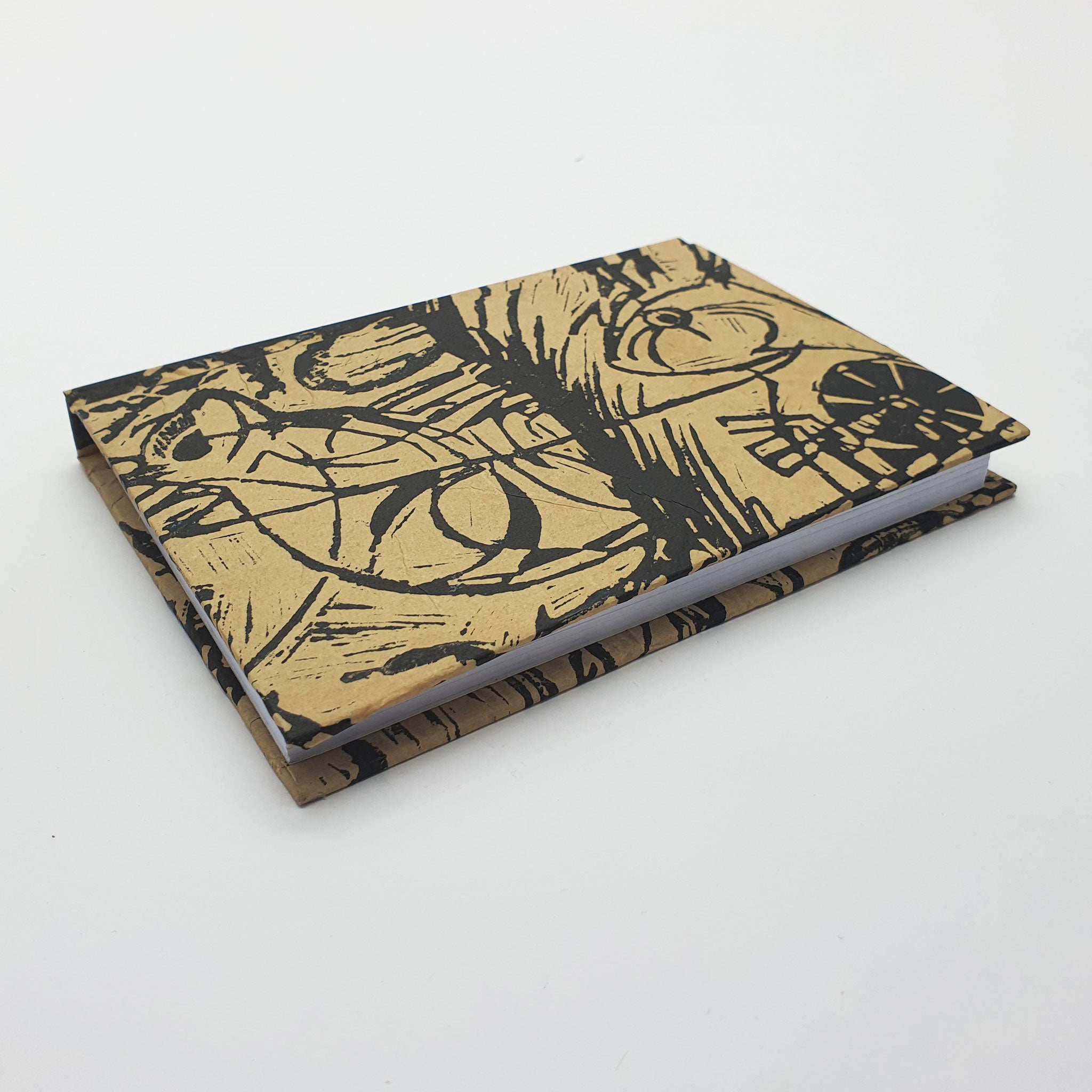 Recycled books – Lino Block Print (A6)