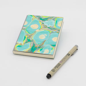 Hand marbled cover (A6)