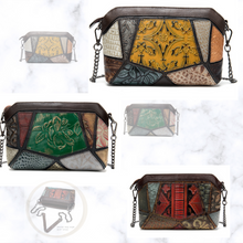 Load image into Gallery viewer, NEW Multi Colour Genuine Italian Leather Shoulder Handbag Clutch Purse Wallet - BrandsByG