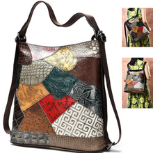 Load image into Gallery viewer, NEW Multi Colour Genuine Italian Leather Shoulder Handbag Satchel Backpack Bag - BrandsByG