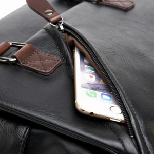 NEW Men Women Black Leather Messenger iPad Satchel Cross Body Shoulder Strap Bag - BrandsByG