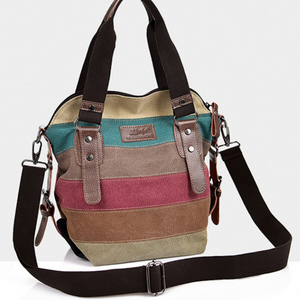 New Large Multi Colour Oxford Cross Body Shoulder Messenger Satchel Tote Bag - BrandsByG
