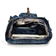 Load image into Gallery viewer, New Blue Canvas Denim Designer Satchel Backpack Bags Retro Vintage Travel Bag - BrandsByG