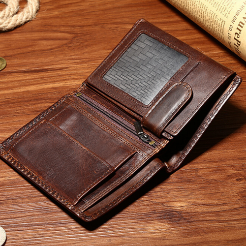 New Leather Credit Card Holder Men's Money Cash Wallet Coin RFID Blocking Purse - BrandsByG