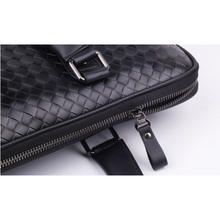 Load image into Gallery viewer, NEW Men Women Hand Weaved Black Leather Attache Satchel Briefcase Handbag Bags - BrandsByG