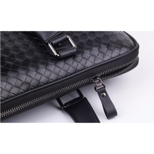 NEW Men Women Hand Weaved Black Leather Attache Satchel Briefcase Handbag Bags - BrandsByG