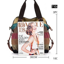 Load image into Gallery viewer, New Large Multi Colour Oxford Cross Body Shoulder Messenger Satchel Tote Bag - BrandsByG