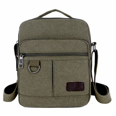 Canvas Bags Shoulder Messenger Zipper Lunch Bag Vintage Military Travel Satchel - BrandsByG