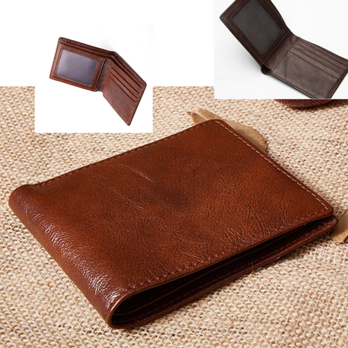 Men's Wallets Slim Bifold Top Grain Leather Credit Card ID Holder Wallet Purse - BrandsByG