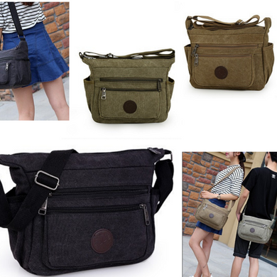 Mens Canvas Bag Shoulder Messenger School Bags Military Vintage Travel Satchel - BrandsByG