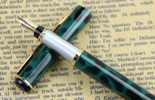 Load image into Gallery viewer, Caligraphy style Metal Fountain Pen Fine Nib Refillable Bladder Black Ink - BrandsByG