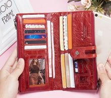 Load image into Gallery viewer, Genuine Leather Ladies Wallet Clutch Purse Coin Bag Card ID Phone Holder - BrandsByG