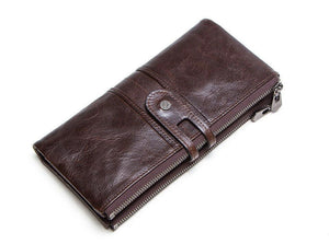 Genuine Leather Ladies Wallet Clutch Purse Coin Bag Card ID Phone Holder - BrandsByG