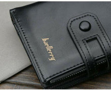 Load image into Gallery viewer, Men Women Black Leather Wallet Clutch Purse Card Cash Zip Coin Photo ID Holder - BrandsByG