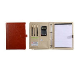 Men women Pen Calculator Cards Leather Writing Work Business A4 Compendium NEW - BrandsByG
