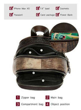 Load image into Gallery viewer, Multi Colour Genuine Italian Leather Shoulder Backpack Handbag Satchel Bag - BrandsByG