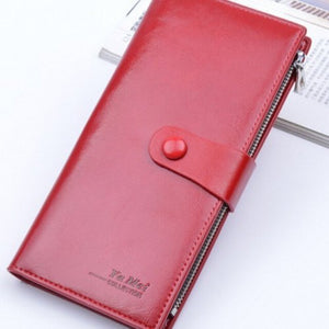NEW Ladies Slim Leather Coin Clutch Purse Phone Card Photo Wallet Holder Sm Bag - BrandsByG