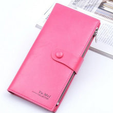 Load image into Gallery viewer, NEW Ladies Slim Leather Coin Clutch Purse Phone Card Photo Wallet Holder Sm Bag - BrandsByG