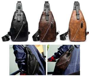 NEW Men's Leather Bag Shoulder Messenger ManBag Vintage Military Travel Satchel - BrandsByG