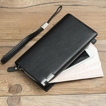 Load image into Gallery viewer, NEW Women Men Black Leather Clutch Coin Bag Card ID Phone Holder Wallet Purse - BrandsByG