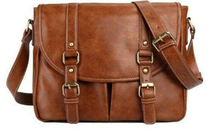 Retro Computer Bags Vintage Leather Messenger Shoulder Travel Satchel iPad Bag - BrandsByG