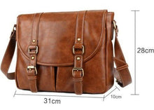 Load image into Gallery viewer, Retro Computer Bags Vintage Leather Messenger Shoulder Travel Satchel iPad Bag - BrandsByG