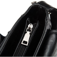 Cargar imagen en el visor de la galería, Retro Men Black Leather Shoulder Messenger Bag Satchel Cross Body Travel Handbag - BrandsByG